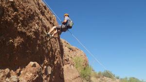 Learning to Rappel at Papago Park!