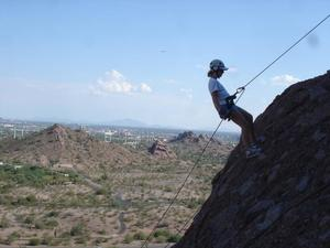 Rappelling in Arizona