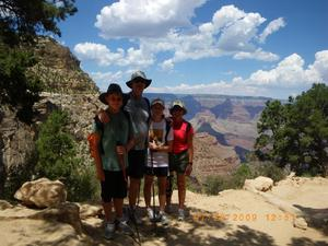 Family Hiking at The Grand Canyon